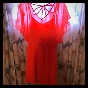 Bright peach dress
